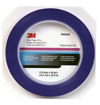 3M™ Masking tape for rubber edges blue, 6mm, 33m