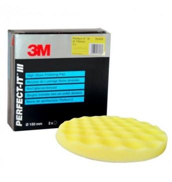 3M™ Poliravimo kempinė geltona 150mm gofruota