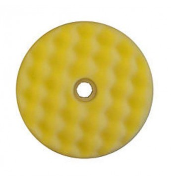 3M™ Dvipusė geltona gofruota poliravimo kempinė 150 mm  greitos fiksacijos