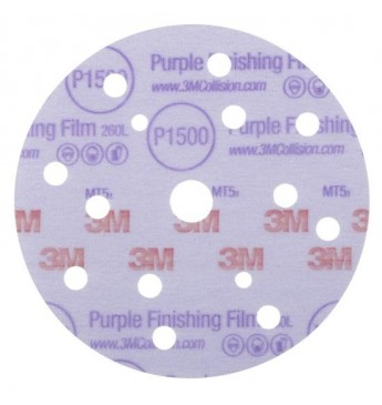 3M Hookit 260L/15 Purple disc  P1500 150mm