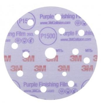3M Hookit 260L/15 Purple disc  P1500 150mm