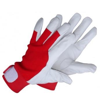 Darba cimdi kazas ādas ar velkro manžeti, plauksta - āda, virspuse - tekstils, 10.izm