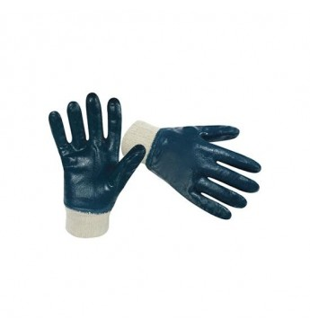 Pirštinės storu nitrilo sluoksniu, siauru rankogaliu, mėlynos, 10 dydis