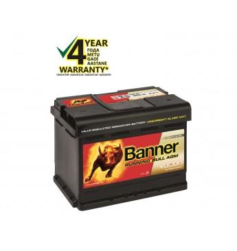 Akumulators Banner AGM 60Ah 600A RUNNING BULL 12V 241x175x190mm