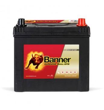 Akumulators Banner EFB 65Ah 550A -+ 12V, 233x173x203/225mm