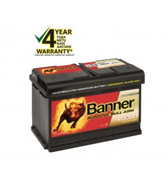 Akumulators Banner AGM 70Ah 720A RUNNING BULL 12V 278x175x190mm