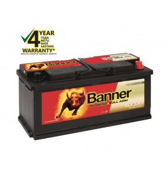 BANNER RUNNING BULL AGM akumulators, 12V, 105Ah, 950En