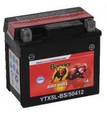 Akumulators Banner AGM 4Ah 55A Bike Bull 12V 114x71x106mm