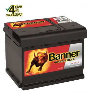 Akumulators Banner 62Ah 550A 12V Power Bull 241x175x190mm