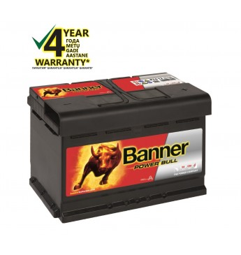 BANNER POWER BULL Ca/Ca akumulators, 12V, 74Ah, 680En