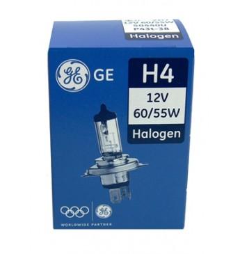 GE auto spuldze 12V H4 60/55W, STANDART, kārbā 1gab