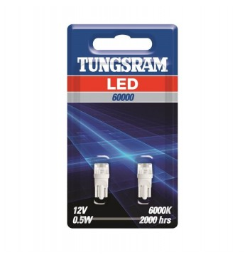 TUNGSRAM LED lampiņa 12V W2.1x9.5d W5W, blisterī