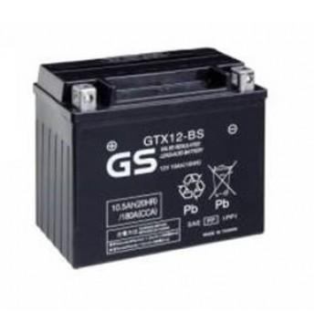 GS YUASA Moto 10.5Ah GTX12-BS12V 180A 151x88x131mm