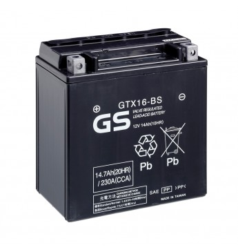 GS YUASA Moto 14.7Ah GTX16-BS12V 230A 150x87x161mm