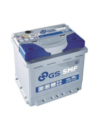GS YUASA -+ 52Ah SMF012 12V 460A 207x175x190mm