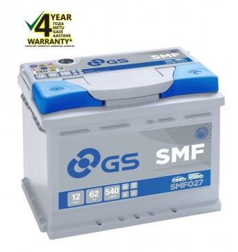 Akum.vieglo GS YUASA -+ 62Ah 12V 540A SMF027