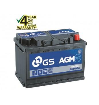 Akum.vieglo GS YUASA 70Ah 12V 760A  AGM096
