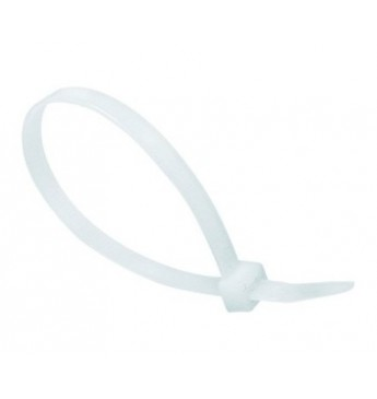 Cable strap 200mm x 3.6mm white, 100 pcs.