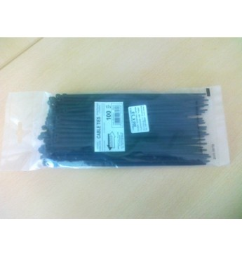 Cable strap UV 300mm x 7.8mm black, 100 pcs.