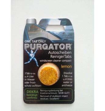 PURGATOR vēstiklu mazgāšanas tabletes, 1gab (citrons)
