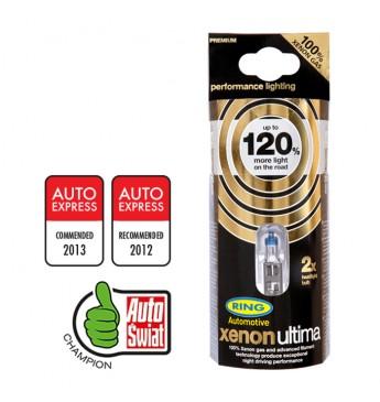 ~RING XENON ULTIMA +120% auto spuldze 12V H4 55W, 2gb blisterī
