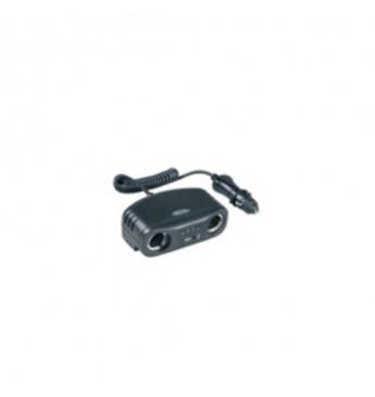 RING 12V 2x sadalītājs + USB, 8A, ar pagarinātāju 96W