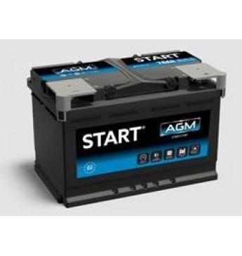 START 70Ah AGM R+ 12V 760A akumuliatorius 278x175x190
