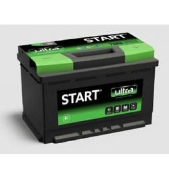 Start Ultra 75Ah R+ 12V 680A akumuliatorius 278x175x175