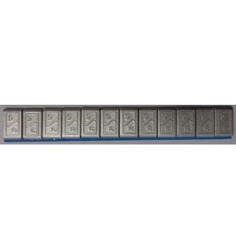 Stick-on steel weights, 12x5g