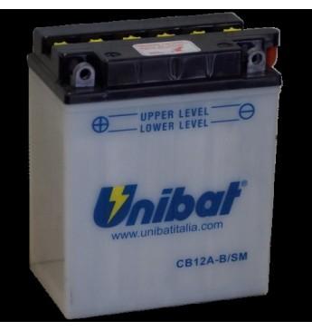UNIBAT 12V 12Ah Moto akumulators, 165A, L