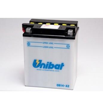 UNIBAT 12V 14Ah Moto akumulators, 190A, L