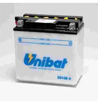 UNIBAT 12V 16Ah Moto akumulators, 270A, L