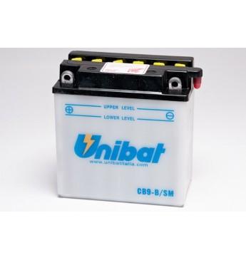 UNIBAT 12V 9Ah Moto akumulators, 130A, K