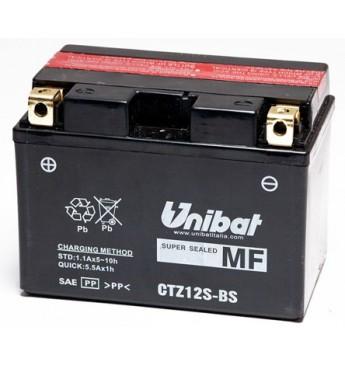 UNIBAT 12V 11Ah Moto akumulators, 210A, L